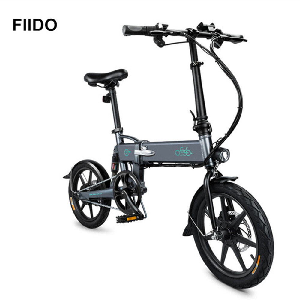 FIIDO D2 16 pouces 250 w 7.8ah pliant Mini vélo électrique intelligent en alliage d'aluminium cyclomoteur vélo électrique avec feu arrière LED