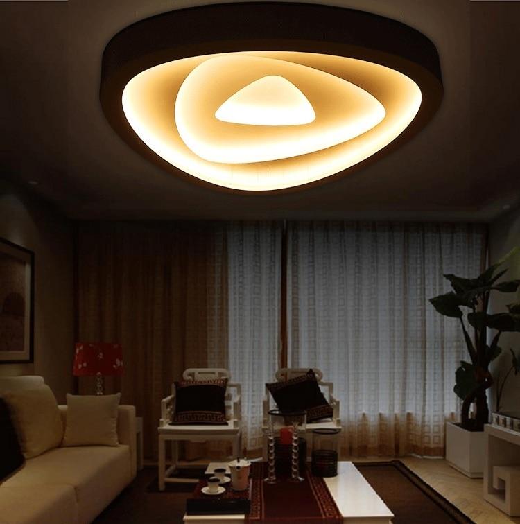 Art iron art acrylic LED ceiling lamp Living room bedroom study restaurant lights Office business lighting Ceiling light110-240V