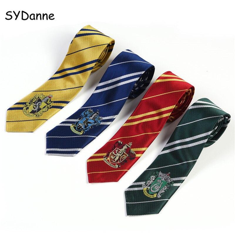 SYDanne Hermione Necktie Ties Cosplay Costumes Gryffindor Slytherin Hufflepuff Ravenclaw Tie Hermione Granger Scarf