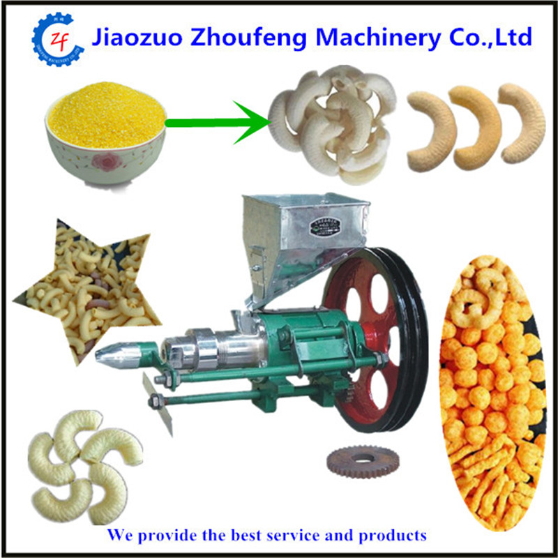 Puffed corn rice  snacks food extruder snacks machine     ZF large production of snack foods puffing machine grain extruder single screw food extruder
