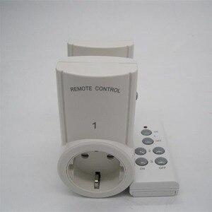Image 3 - 2ชิ้นซ็อกเก็ตการควบคุมระยะไกลไร้สายหน้าบ้านเต้าเสียบไฟฟ้าสวิตช์ไฟซ็อกเก็ต+ 1ระยะไกลสหภาพยุโรปปลั๊กต่อBH9938 2 DC 12โวลต์