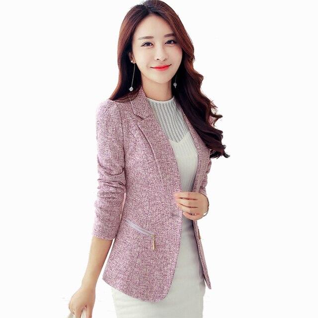 Casual de color Blazers mujeres chaqueta Formal coreano más tamaño Blazer  de Cabo femenino Ceket chaquetas b662321cd348
