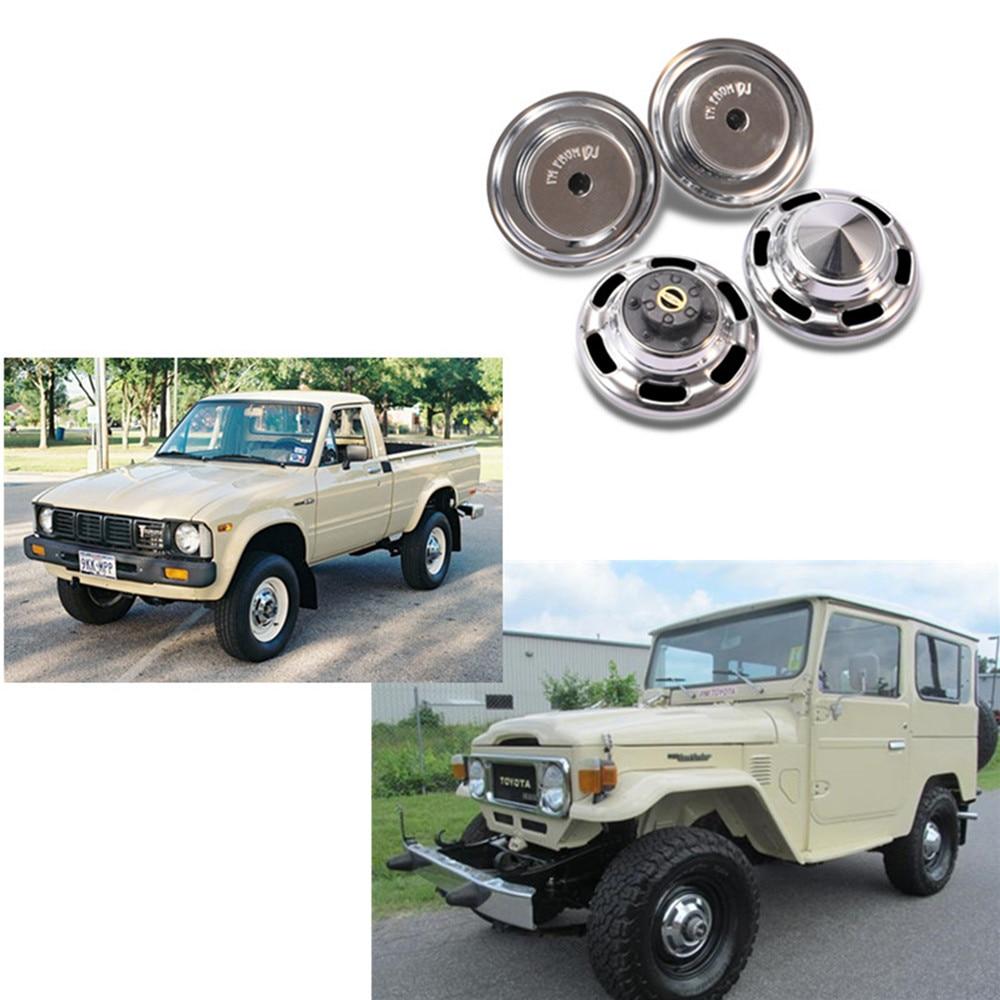 Metal Hub Cap Wheel Cover For DJC 0627 RC4WD TF2 FJ40 FJ45 FJ55 HPI FJ LAND