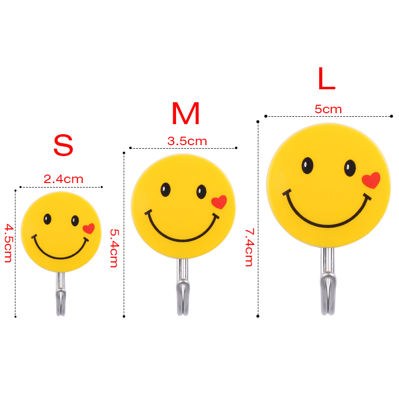 Aliexpress.com : Buy 10PCS Emoji Strong Self Adhesive Hook Cute Wall Mounted Clothes Hooks for Back Door Bathroom and Kitchen from Reliable clothes hook ...
