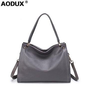 2018 Fast Shipping New 100% Genuine Leather Women's Long Handel Shoulder Bag Handbag Cross Body Messenger Bags Satchel Bolsa