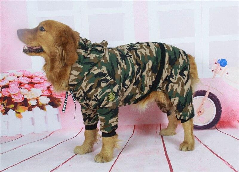 Camouflage dog jacket big dog clothes (5)