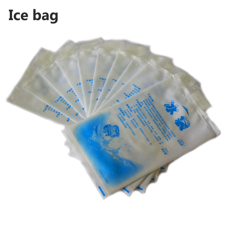 10pcs/lot 400ML thicken nylon gel ice pack reusable Cooler bag for food storage picnic fridge dry ice gelo cold box can coolers ...