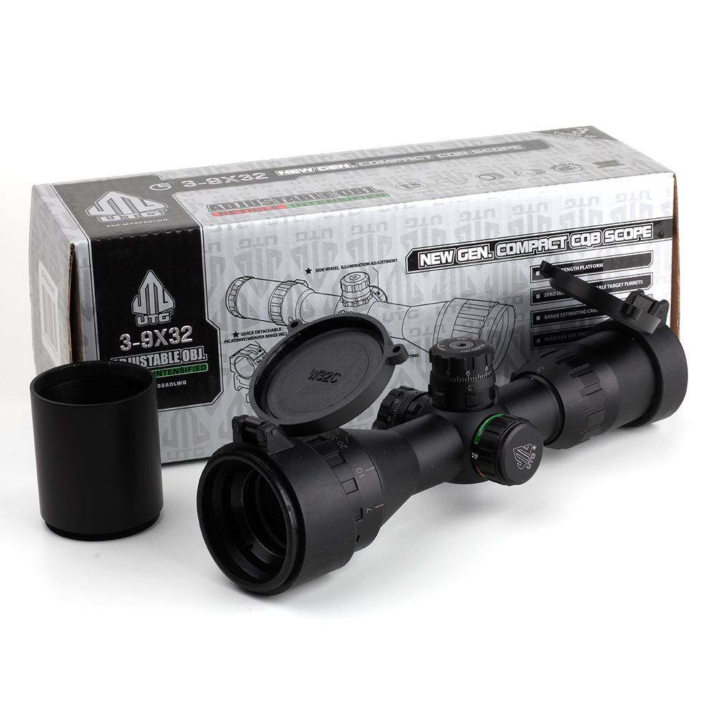 Leapers UTG Optical 3 9x32 AOL 1inch Tube Mil dot Compact Hunting Riflescope With Sun Shade