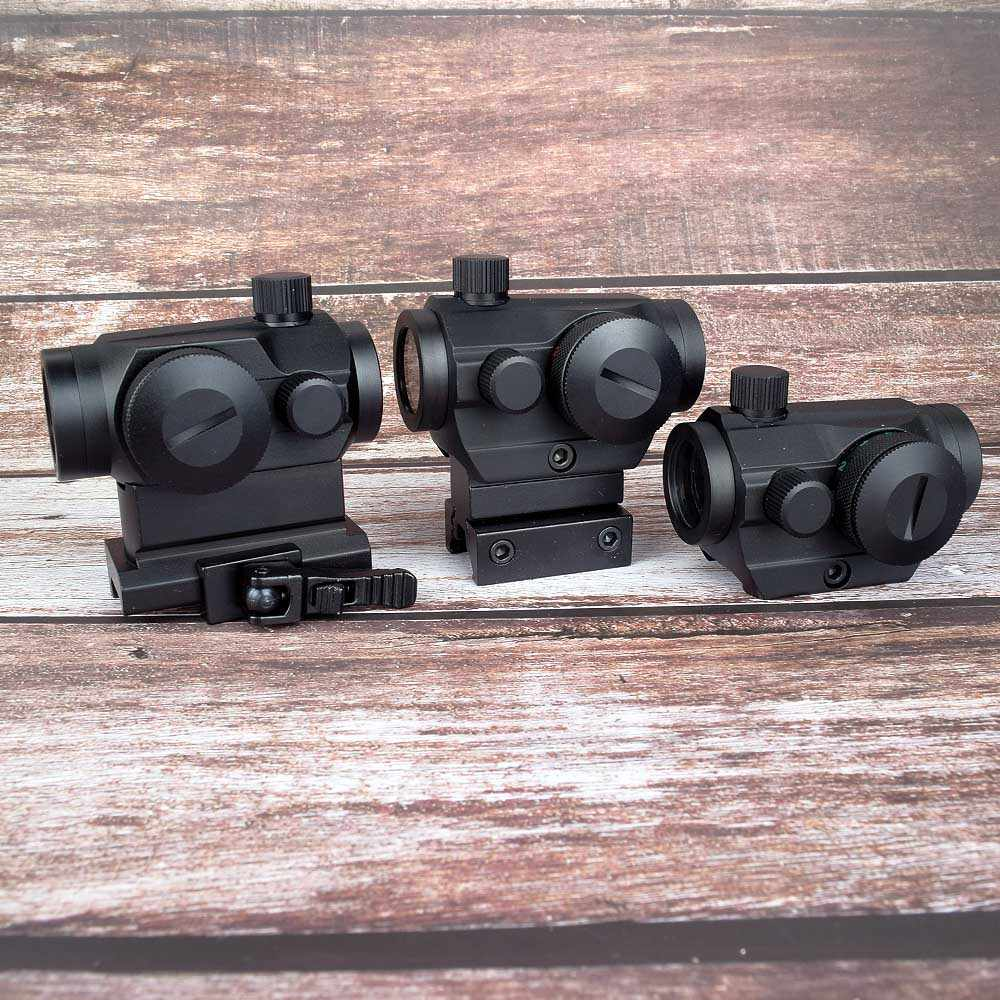 ציד אופטיקה טקטי מיני 1X22 אדום ירוק Dot Sight 5 מודלים בהירות התאמת Riflescope היקף רפלקס עדשה