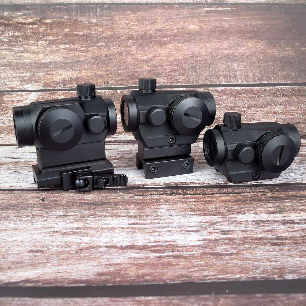 Berburu Optik Taktis Mini 1X22 Merah Hijau Dot Pandangan 5 Model Penyesuaian Kecerahan Riflescope Lingkup Refleks Lensa