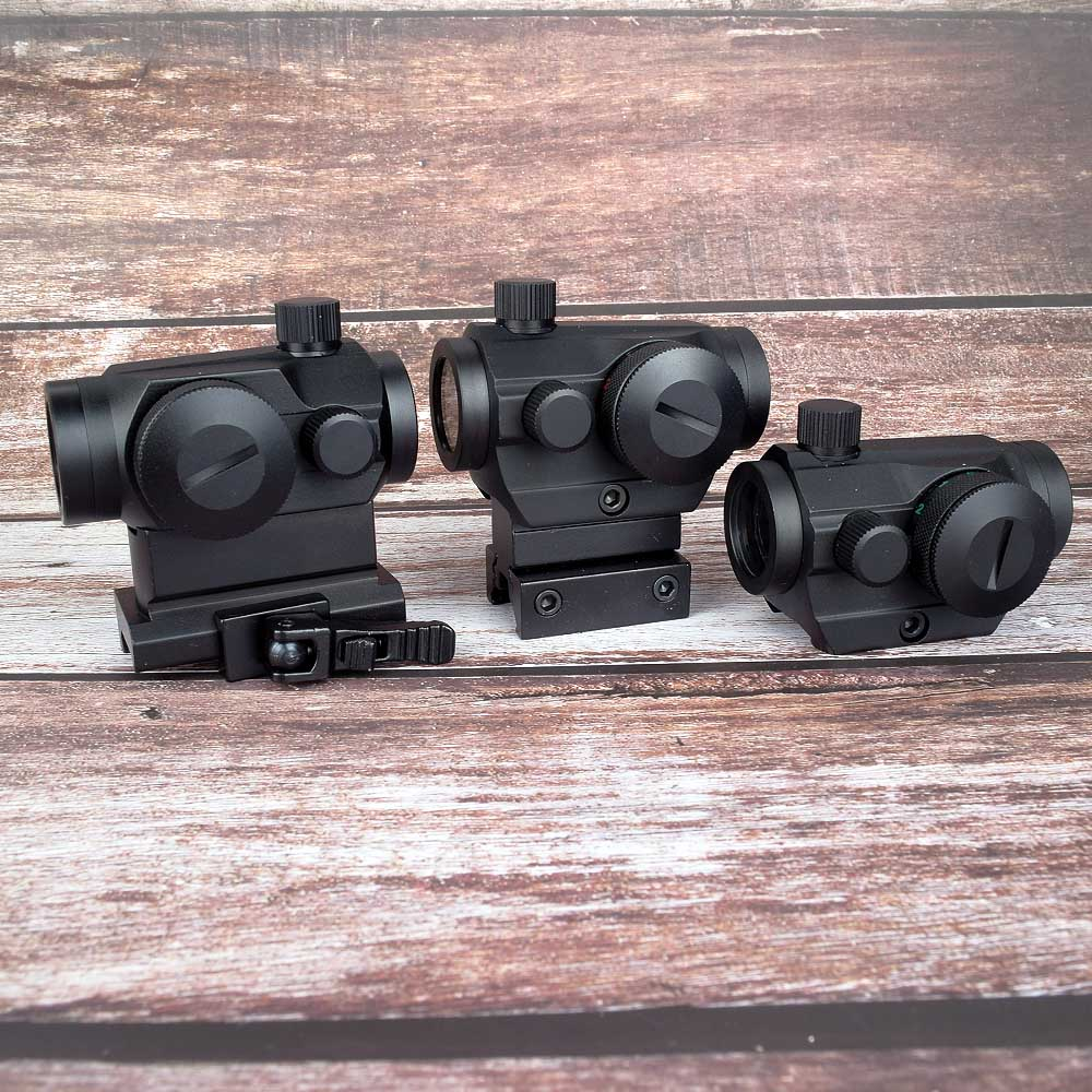 Hunting Optics Tactical Mini 1X22 Red Green Dot Sight 5 Models Brightness Adjustment Riflescope Scope Reflex Lens