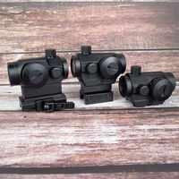 Optyka myśliwska Tactical Mini 1X22 czerwona zielona kropka Sight 5 modeli regulacja jasności luneta zakres Reflex Lens