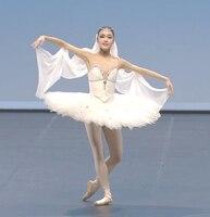 Adult White Professional Tutu Women Ballet Dance Competition Costume Figure Skating Dress For Girls Swan Lake Ballet Dress