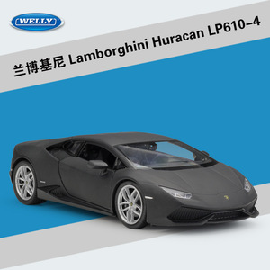 Image 4 - WELLY Diecast 1:24 محاكاة سيارات لعبة كلاسيكية نموذج لامبورجين هوراكان LP610 سيارة رياضية سبيكة معدنية سيارة للأولاد هدية مجموعة