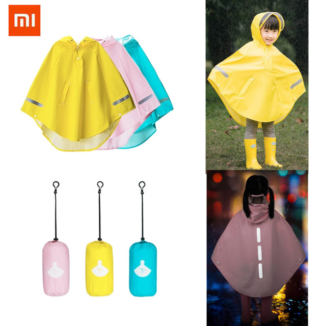 3e8ed428f0d1 Xiaomi Mijia Waterproof Kids Cloak Raincoat Boy Girls For Children ...