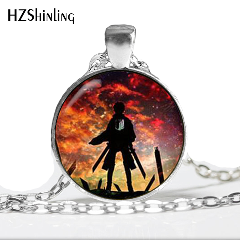 HZ–A447 New Attack on Titan Necklace Attack on Titan Pendant Jewelry Glass Cabochon Necklace Pendant HZ1