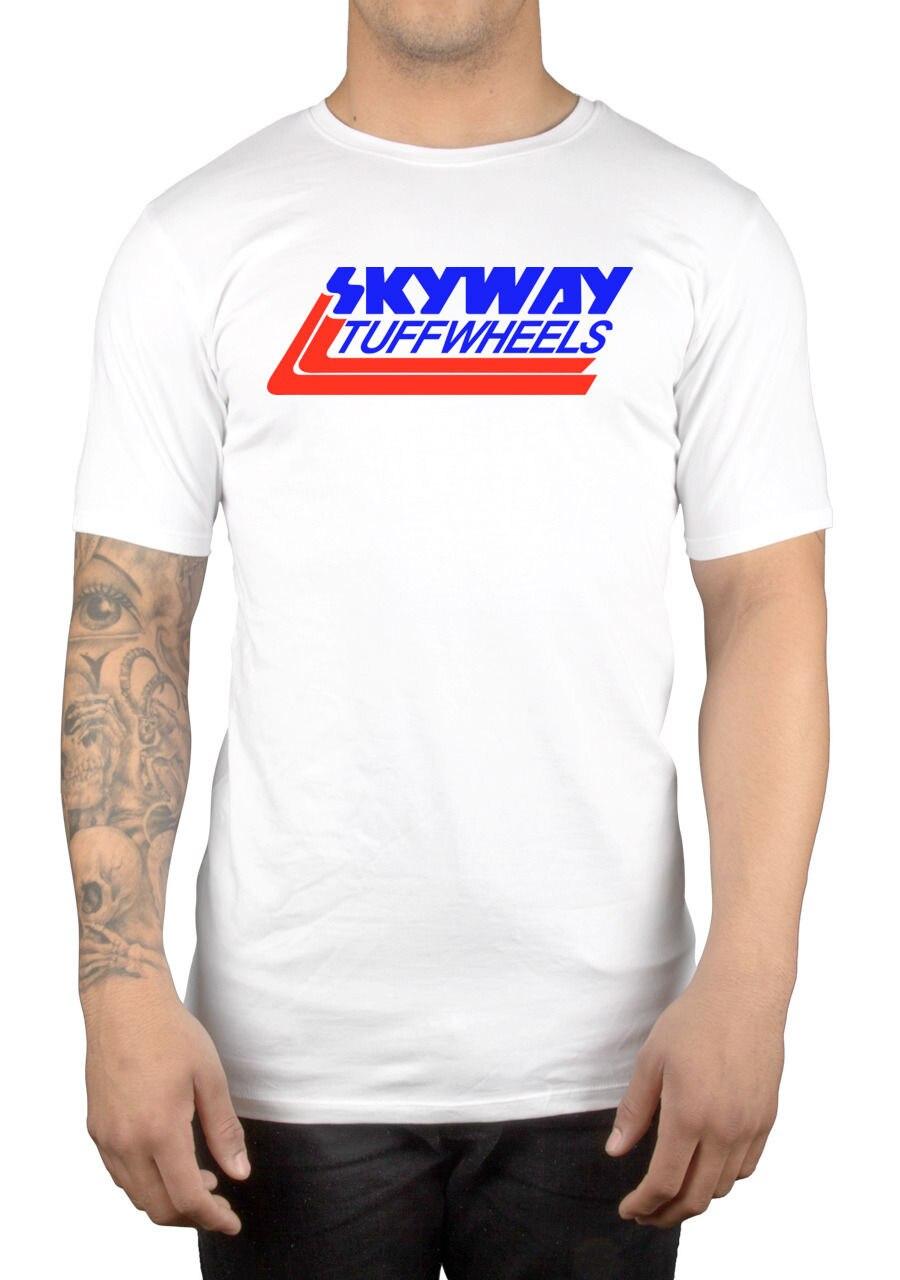Skyway Tuff Wheels New Retro BMX T-Shirt Cyclinger Bandit Biker Mongoose Man Fashion Round Collar T Shirt Top Tee Funny