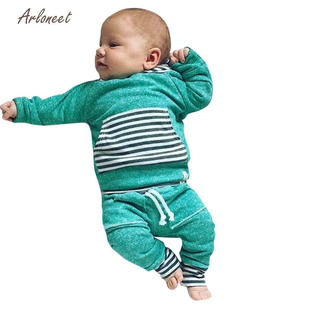 ARLONEET Childrens Sets girls clothes Cute boys clothes fashion kids boys clothes Kids Baby Boys&Girls Warm Hooded Tops DEC26