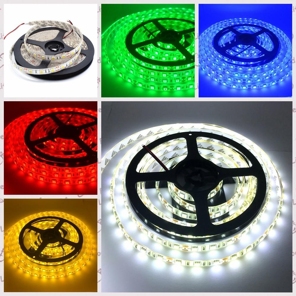 Led Strips 12v 5m Led Strip Neon Light Smd 5050 Rgb Ledstrip Waterproof Ribbon Flexible 300led Dc 12 V Warm White Tape Lamp For Decoration Lights & Lighting