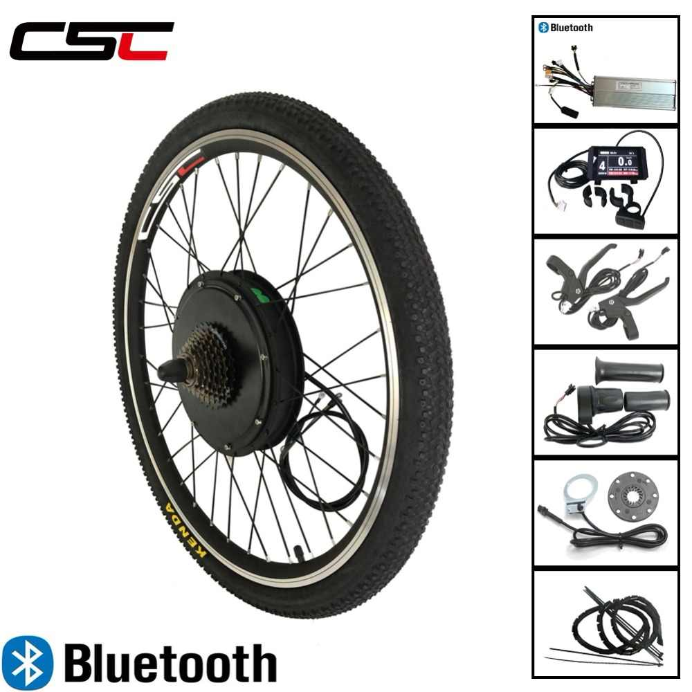 CSC front rear Motor Wheel 48V 1500W for 20 24 26 27.5 28 29'' 700C Bluetooth Ebike Electric Bicycle Conversion Kit Regeneration