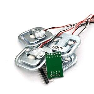 Image 4 - Nouveau 4 pièces 50KG échelle humaine corps cellule de charge résistance capteur de poids de contrainte + HX711 AD Module capteurs de pression outils de mesure