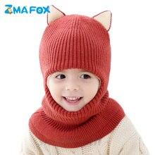 ZMAFOX niños sombrero de invierno con capucha gorra bebé niños niñas  Balaclava beanie sombreros Encantadores Niños terciopelo te. e0f7be7058d