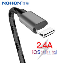 NOHON para Apple Cable de datos de carga rápida 8 pines para iPhone X 7 6 8 6 S 5 5S Plus XS MAX XR para el iPad Mini 4 iluminación cargador de Cables(China)