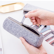 Women Men Boys Girls Felt Pen Pencil Case Stationery Pouch Bag Case Organizer Cosmetic Bags(China)