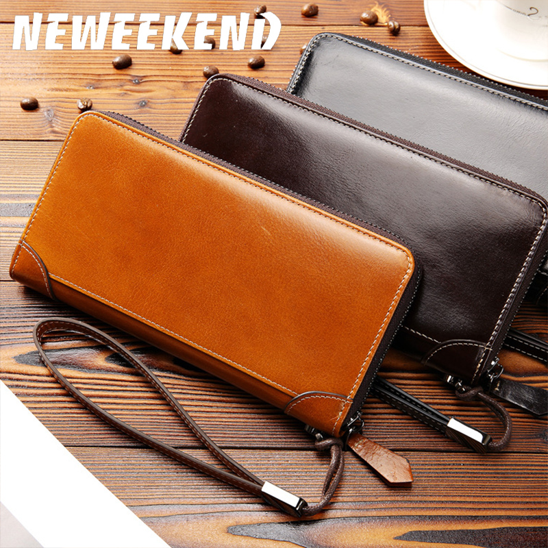Luxury Male Leather Purse Men's Clutch Wallets Handy Bags Business Carteras Mujer Wallets Men Black Brown Dollar Price MBC6019 refill laser copier color toner powder kits for ricoh mpc 2030 2530 2050 2550 mpc2030 mpc2530 mpc2050 mpc2550 mpc 2030 printer