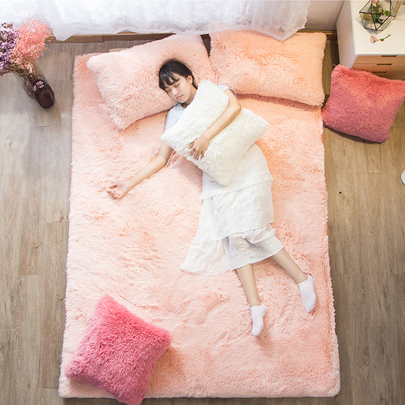 2018 NEW bed White beige pink Thickening folding luxury Fiber quilted Mattress Topper 100% Cotton shell Tatami mattress