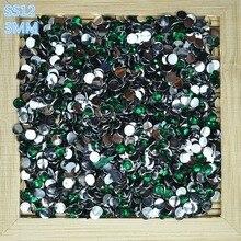 10000 PCS bag SS12 3.0 mm round resin Dark green drill the Non hotfix  flatback 6e751ef6e187
