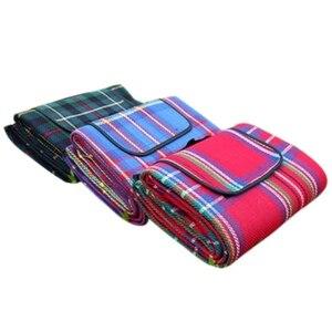 150x200 см водонепроницаемое пляжное одеяло, коврик для кемпинга, одеяло для пикника, складное детское одеяло в клетку для пикника