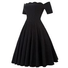 Belle Poque 2017 Women Dress Robe Vintage Off Shoulder Black Summer Dress Jurken 1950s 60s Retro Rockabilly Swing Party Dresses