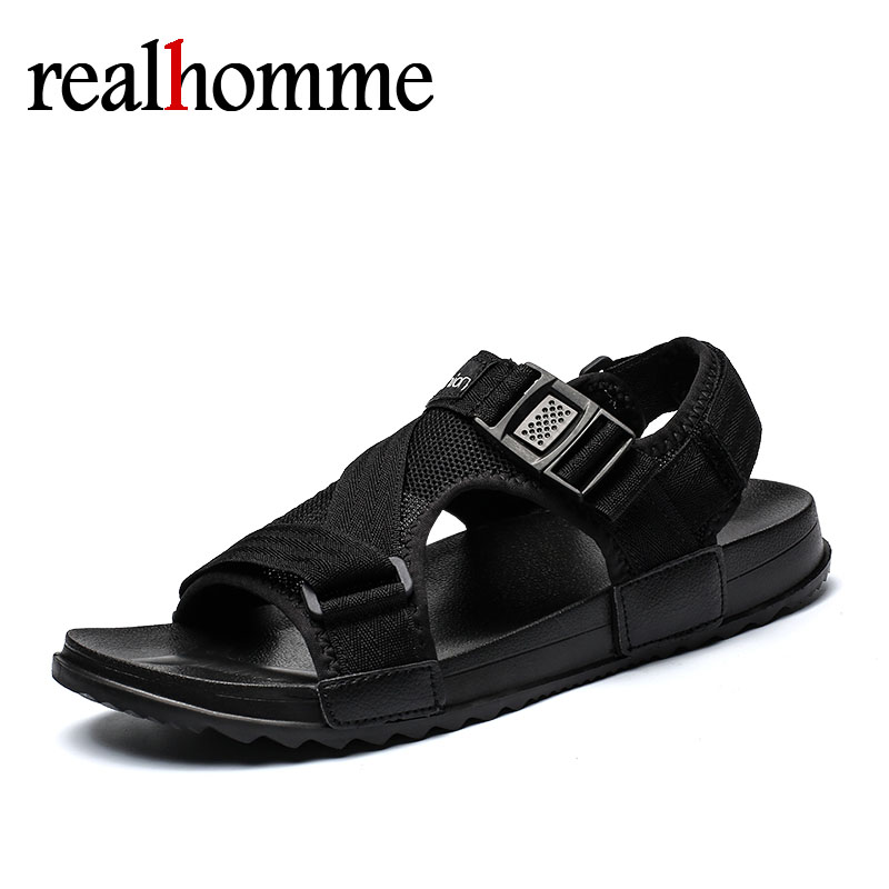 Hot Sandalias Hombre 2018 Summer Gladiator Casual Shoes Men Beach Sandals Slippers Flat Men's Outdoor Shoes Roman Big Size 36-46 summer flat sandals female gladiator sandals basic slippers stripe flat heel anti skidding beach shoes sandalias