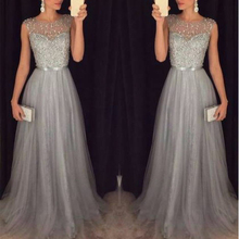Fashion Sequin Patchwork Dress 2019 Evening Party Sleeveless O-Neck Long Belt Slim Elegant Women Maxi Vestidos