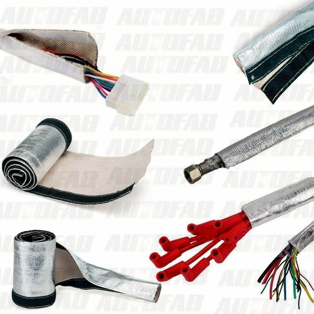aluminized metallic heat shield sleeve insulated wire hose cover rh aliexpress com