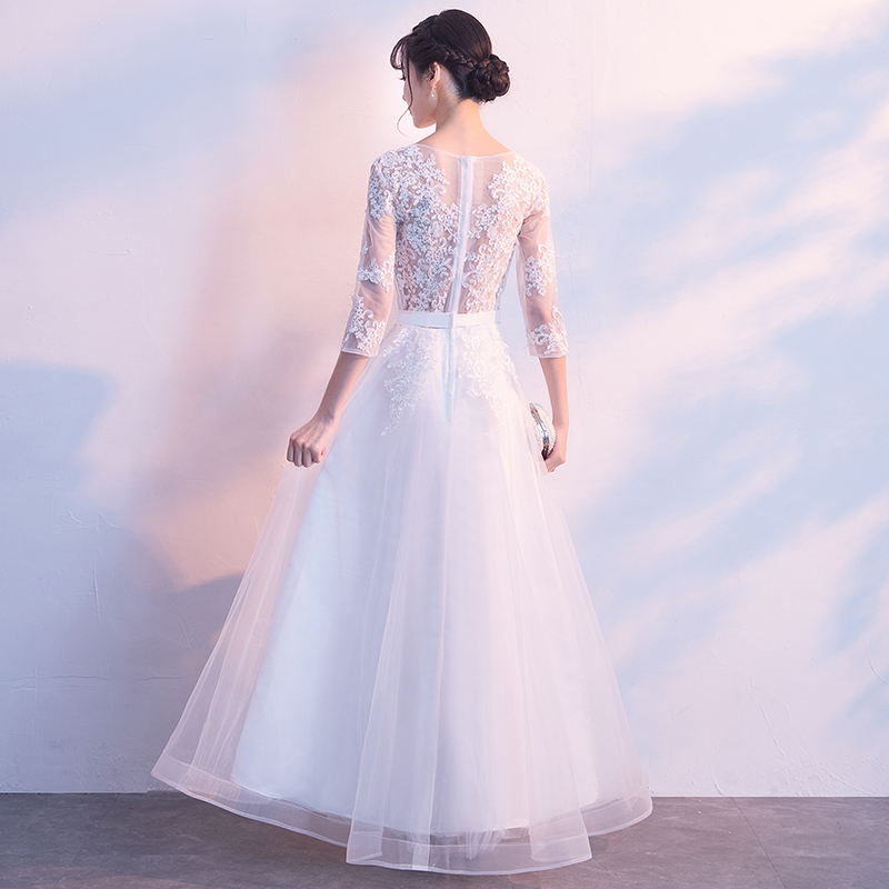 Image 2 - DongCMY Prom Dresses Long White Color Lace Flower Women Married  Party Dress Gownprom dressesprom dress fashionprom fashion dresses -