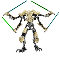 183PCS Star Wars 7 General Grievous With Lightsaber Storm Trooper W Gun Figure Toys Building Blocks