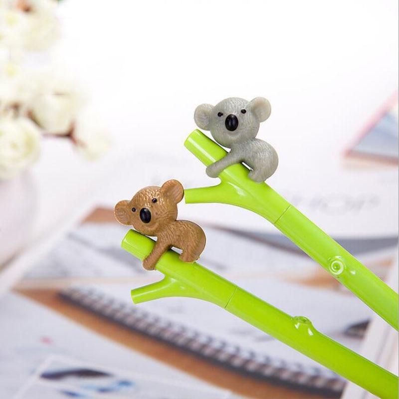0.38mm Creative Cartoon Cute Koala Tree Branch Black Ink Gel Pen Pen Tool Writing School Stationery Boy Girl Supplies Gifts