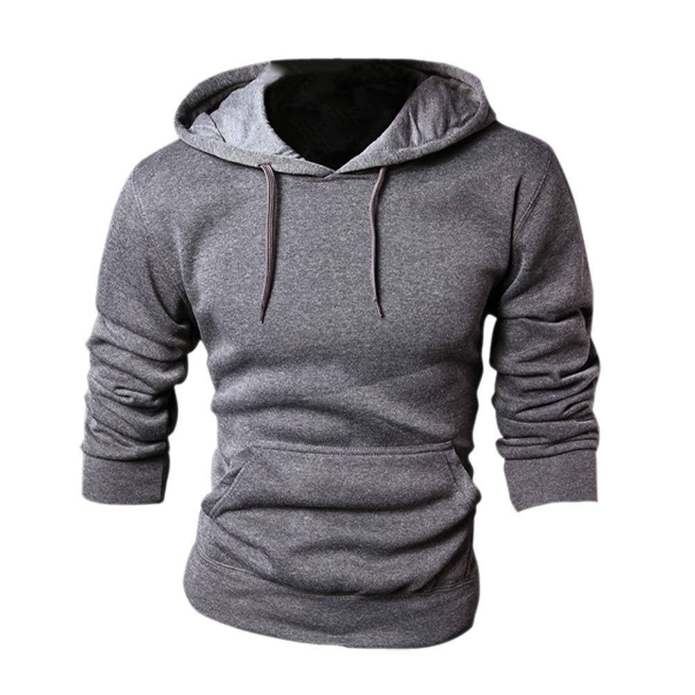 New spring/autumn Mens fashion Casual Hoddies Sweatshirts High Quality Men sportswear solid Fleece hoody