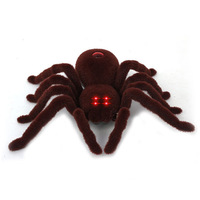 Infrared Spider Remote Control Animal Toy RC Scary Creepy Soft Plush Spider Tarantula Electric Realistic Crawling Spider