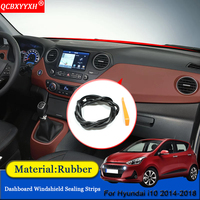 Car-styling Rubber Anti-Noise Soundproof Dustproof Car Dashboard Windshield Sealing Strips Accessories For Hyundai i10 2014-2018