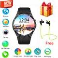 Kingwear kw88 smart watch android 5.1 os tela amoled de 1.39 polegada 3g wi-fi smartwatch telefone mtk6580 gps gravidade sensor pedômetro