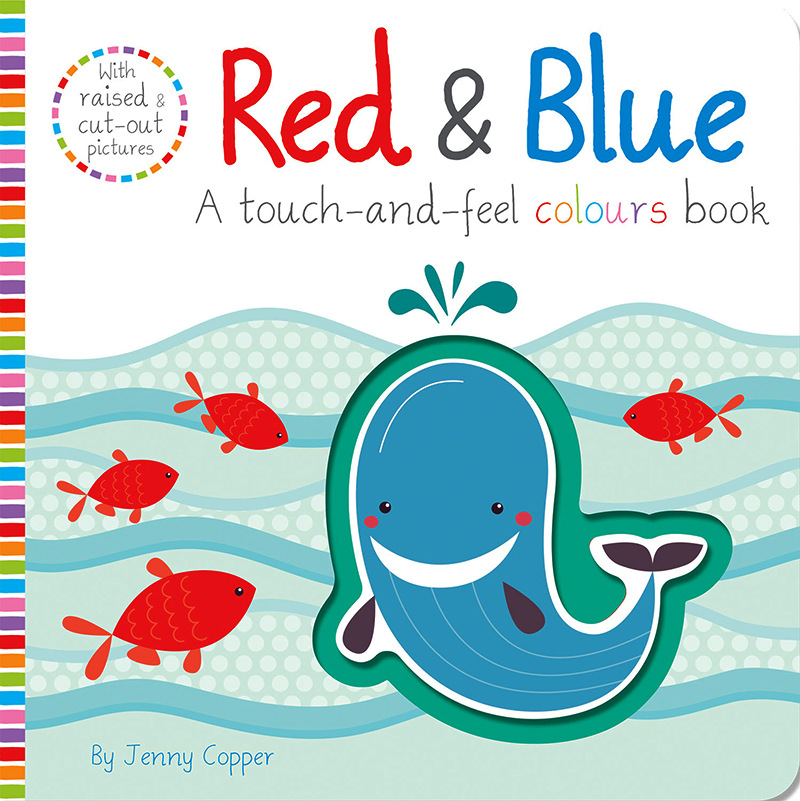 Red & Blue Touch And Feel Colors Book English Educational Picture Books Baby Children Reading Book