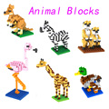 2016 Mini Blocks DIY Creative Bricks Toys Mini Model Toy Colorful Animal World Blocks for Kids