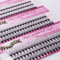 1 Box selling eyelashes single tufts hairy chicken claw soft natural self-grafting lashes planting eyelashes