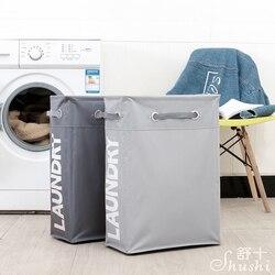 Shushi hotselling collapsible laundry hamper waterproof multi-functional corner slim laundry basket dirty cloth storage basket