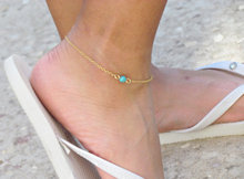 free shipping Gold Anklet Chain with . Delicate Ankle Bracelet Beaded Foot Jewelry. Custom Finish, Gold