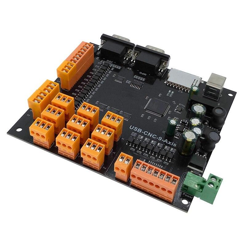 Carte de commande USB CNC 9 axes moteur pas à pas contrôleur de carte avec Interface MPG pour Machine de gravure 100KHz