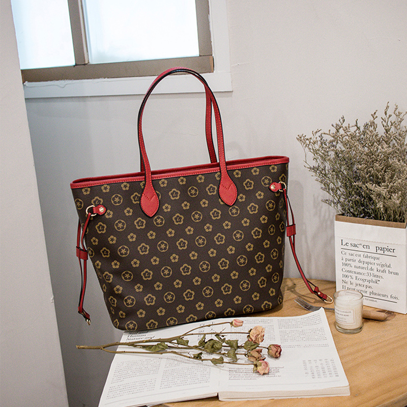 High capacity Europe Women Fashion Luxury Leather Handbags Top Handle Bag Tote High Quality Luxury Shoulder